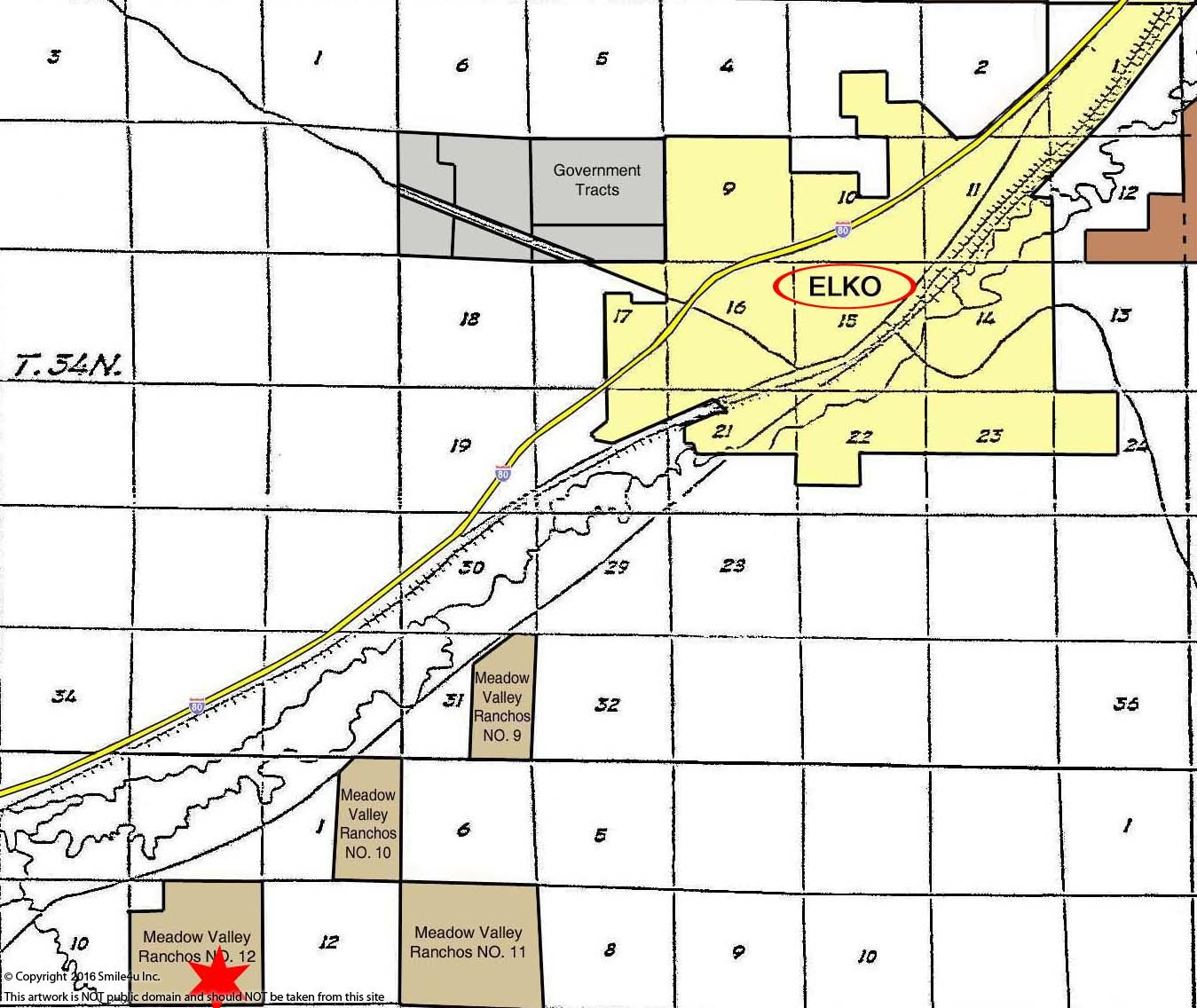 314490_watermarked_Color- Elko - T & R, Section, Subdivision Map 18x24.jpg