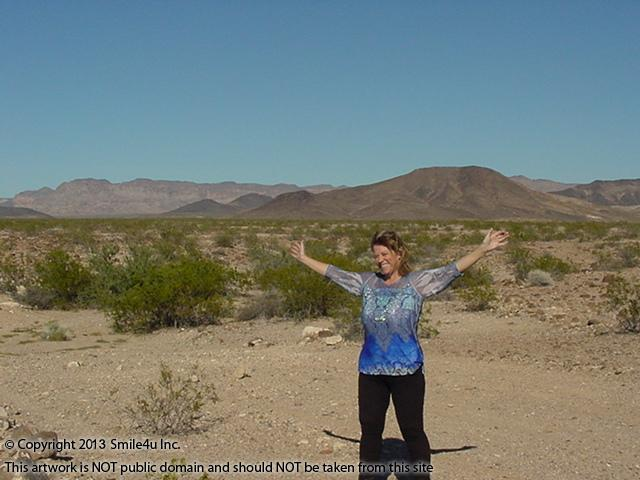 Char the Explorer enjoying Sunshine in early November 2012 Mohave County Arizona.